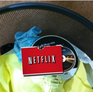 Netflix in the garbage
